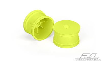 "Pro-Line Velocity 2.2"" Hex Rear Wheels Yellow for TLR 22, D413, RB6, B44.3, B5 and B5M Rear"