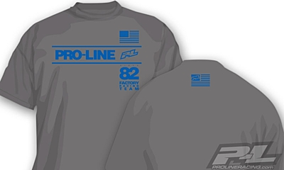 Pro-Line Factory Team Gray T-Shirt - S