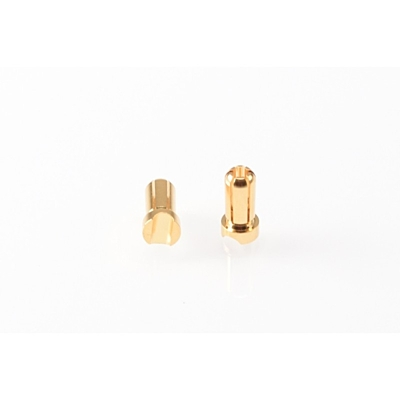 Ruddog 5mm Gold Plug Male Short (2pcs)