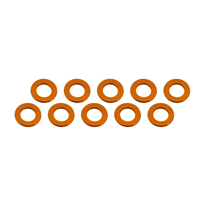 Ultimate Racing Aluminum Shim 3x6x0.5mm (10pcs·Orange)