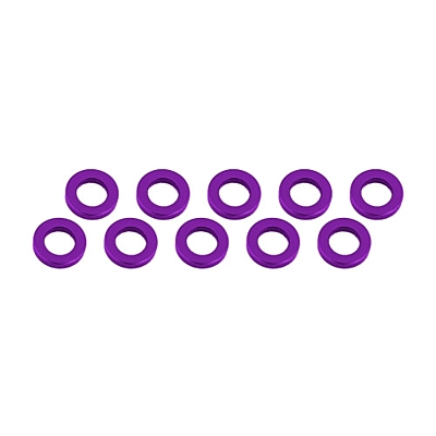 Ultimate Racing Aluminum Shim 3x6x1mm (10pcs·Purple)