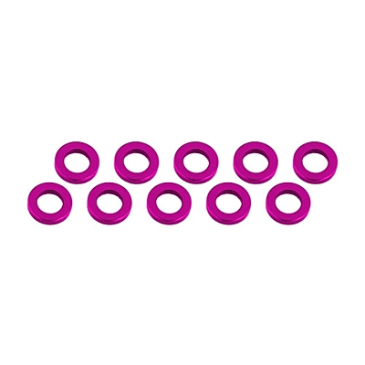 Ultimate Racing Aluminum Shim 3x6x1mm (10pcs·Pink)