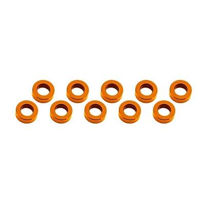 Ultimate Racing Aluminum Shim 3x6x2mm (10pcs·Orange)