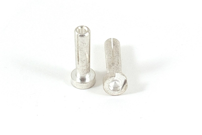 Ruddog Racing High Current 4mm Silver Plug Male 18mm (1pair)