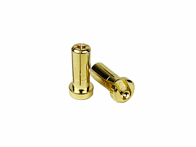 1up Racing LowPro Bullet Plugs 5mm (10pcs)