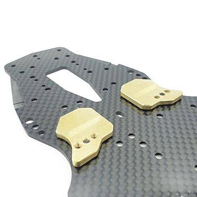 """RC Maker """"Weight Shift"""" Adjustable LCG Chassis Weights for Awesomatix (Front·2pcs)"""