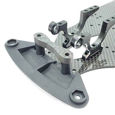 RC Maker GeoCarbon Bumper Plate w/Stopper for Yokomo BD10
