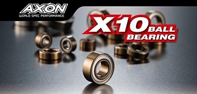 AXON X10 Ball Bearing Set for YOKOMO BD9 (14pcs)