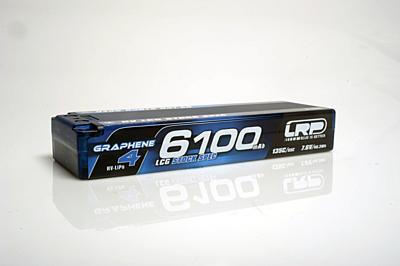 LRP Graphene-4 LCG Stock Spec 6100mAh 7.6V 2S 135C/65C HV LiPo (5mm, 273g)