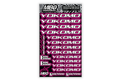 Yokomo/RP Design Pre-Cut Stickers by MM (6 Color Options, Larger A5 size)