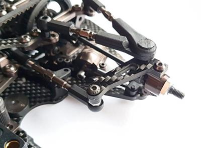 RC Maker GeoCarbon Front Steering Arm Set for Awesomatix