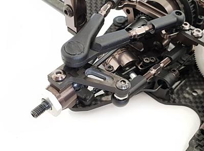 RC Maker GeoCarbon Rear Steering Arm Set for Awesomatix