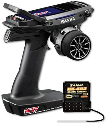 Sanwa M17 Radio + RX-493 Receiver & Preinstalled Battery