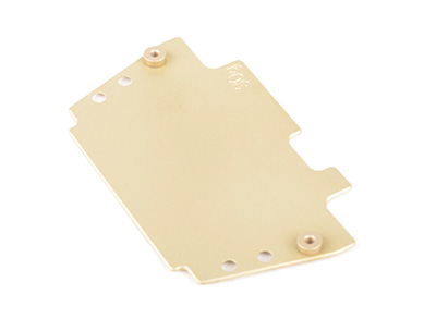 Schumacher Brass Radio Plate (30g) - Cougar-Laydown