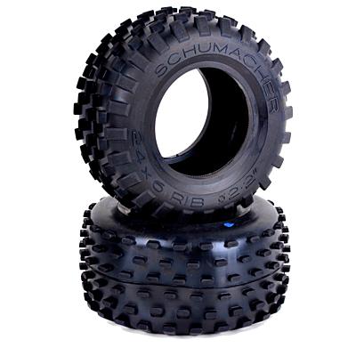 Schumacher Stagger Rib - Truck Tyres - Silver (1 pair)