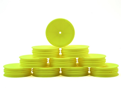 Schumacher Wheel Front Slim 2WD - Neon Yellow (5 pairs)