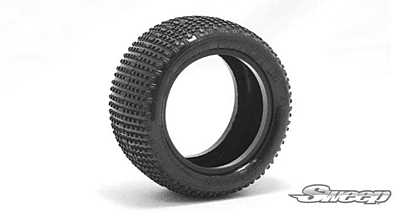 Sweep Square Armor Rear Blue (Extra Soft) 1/10 Buggy Tires with Inserts (2pcs)