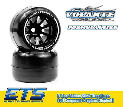 Volante F1 Rear Rubber Slick Tires Asphalt Hyper Super Soft Compound Preglued (2pcs)
