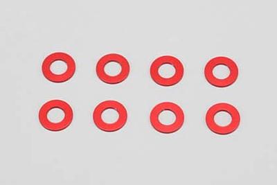 Yokomo 3×6×0.5mm Aluminum Shim (8pcs·Red)