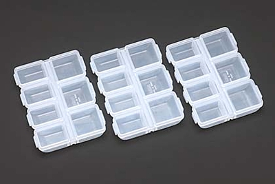 Yokomo Carrying Case 90×70×17mm (3pcs)