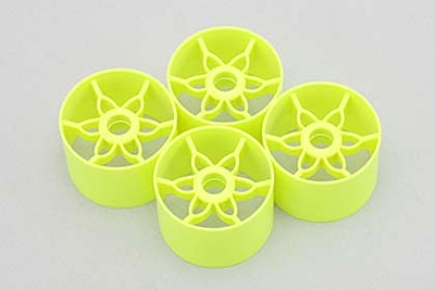 Yokomo Front Wheel (Yellow·4pcs) for YRX12