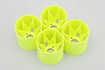 Yokomo Rear Wheel (Yellow·4pcs) for YRX12